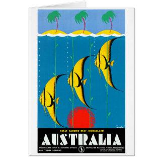 Cartão Austrália restaurou o poster das viagens vintage