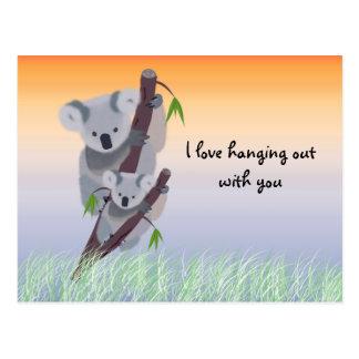 Cartão australiano bonito do urso de Koala
