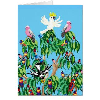 Cartão australiano da árvore de Natal