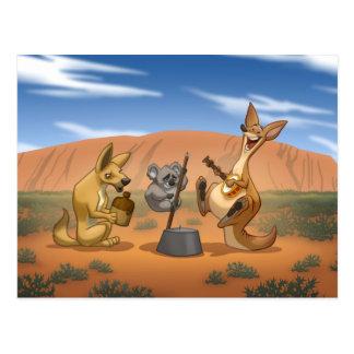Cartão australiano da banda de jarro