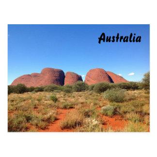 Cartão australiano do interior