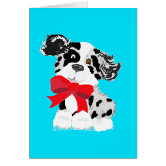 Cartão australiano do pastor dos desenhos animados