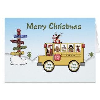 Cartão Auto escolar do Feliz Natal