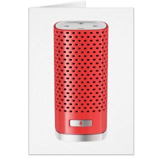 Cartão Auto-falante esperto vermelho
