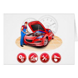 Cartão Auto mecânico