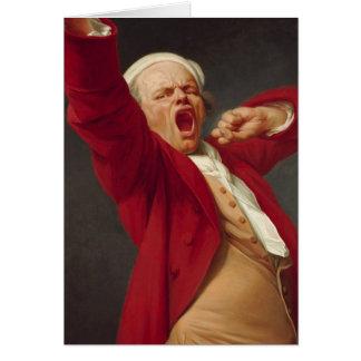 Cartão Auto-Retrato, bocejando - Joseph Ducreux