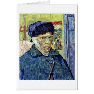 Cartão Auto-Retrato com a orelha cortada por Vincent van