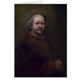 Cartão Auto-retrato de Rembrandt dentro na idade de 63