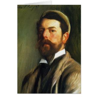 Cartão Auto-Retrato de Sargent- do cantor de John