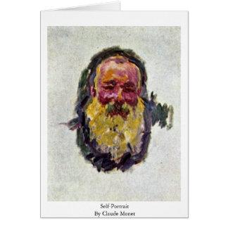 Cartão Auto-Retrato por Claude Monet