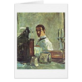 Cartão Auto-Retrato por Henri De Toulouse-Lautrec