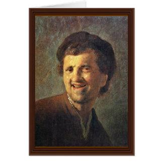 Cartão Auto-Retrato por Rembrandt Harmensz. Van Rijn