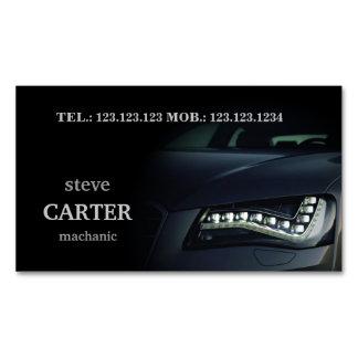 Cartão automotriz da luz do preto do carro do