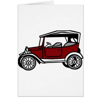 Cartão Automóvel antigo velho do veículo do automóvel do