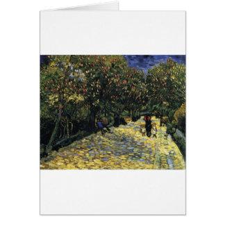 Cartão Avenida com as árvores de castanha em Arles - Van