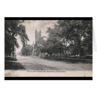 Cartão Avenida de Euclid., vintage 1906 de Cleveland,