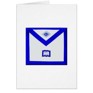 Cartão Avental do capelão dos pedreiro