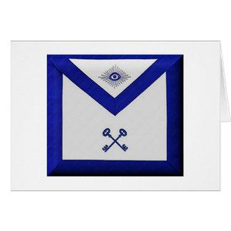 Cartão Avental maçónico do tesoureiro