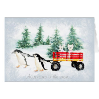 Cartão Aventuras nevado