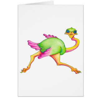 Cartão Avestruz rara