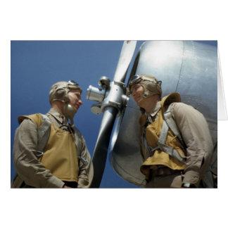 Cartão Aviadores do Corpo do Marines WW2