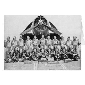 Cartão Aviadores do vingador durante WWII