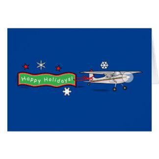 Cartão Avião boas festas