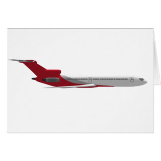 Cartão Avião comercial do jato: modelo 3D: