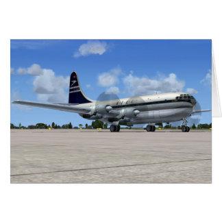 Cartão Avião de passageiros de B377 Stratocruiser