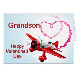 Cartão Avião do dia dos namorados do neto com coração