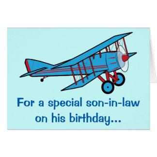 Cartão Avião do genro do feliz aniversario
