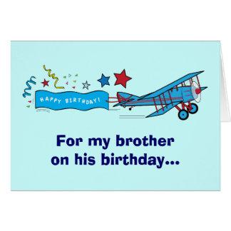 Cartão Avião do irmão do feliz aniversario
