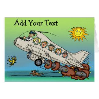 Cartão Avião dos desenhos animados