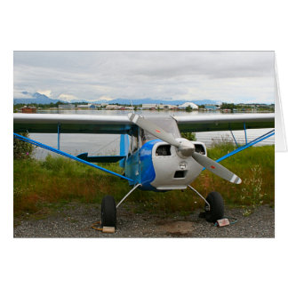 Cartão Aviões altos da asa, azul & branco, Alaska