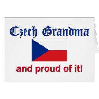 Cartão Avó checa orgulhosa