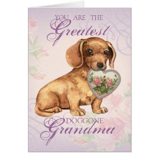Cartão Avó do coração do Dachshund