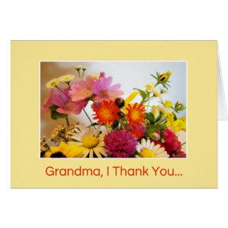 Cartão Avó, eu agradeço-lhe…