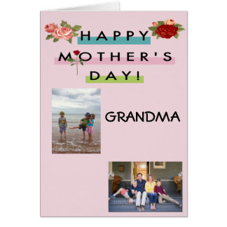 Cartão Avó feliz do dia das mães!