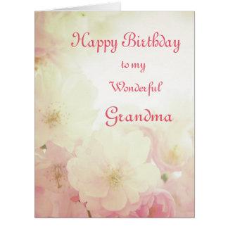 Cartão Avó floral do feliz aniversario
