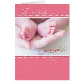 Cartão Avós novas, primeira neta