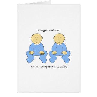 Cartão Avós para juntar meninos, felicitações