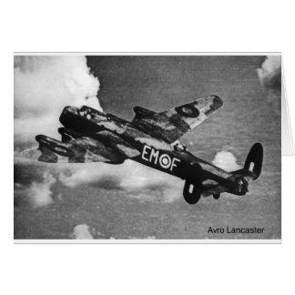 Cartão Avro-Lancaster