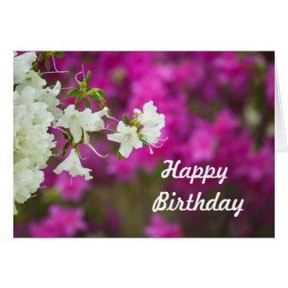 Cartão Azálea do aniversário