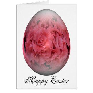 Cartão azálea do ovo de felz pascoa