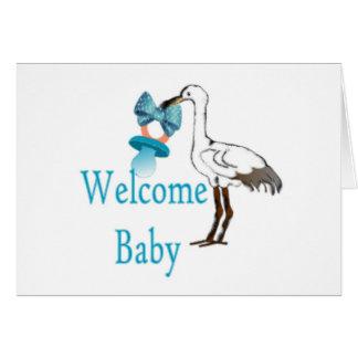 Cartão Azuis bebés bem-vindos