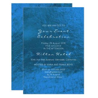 Cartão Azuis cobaltos metálicos mínimos vidro mínimo