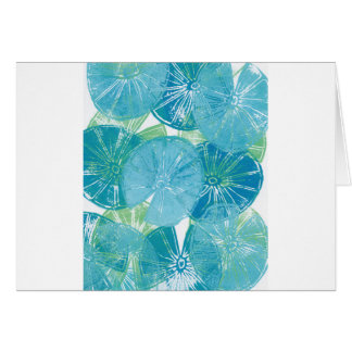 Cartão Azuis da almofada de lírio