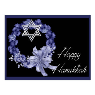 Cartão azuis felizes do feriado da grinalda de