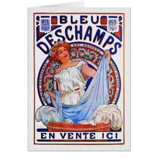 Cartão Azul 1897 de Alfons Mucha Deschamps