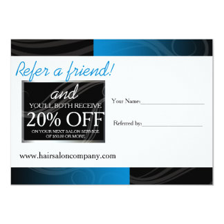 cartão azul à moda da referência do cabeleireiro convite 11.30 x 15.87cm